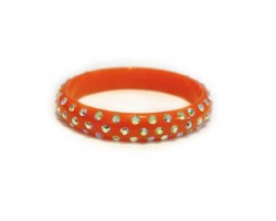 Orange Kids Crystal Bangle Bracelet