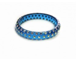 Teal Kids Crystal Bangle Bracelet