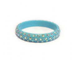 Turquoise Kids Crystal Bangle Bracelet