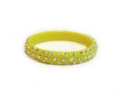 Yellow Kids Crystal Bangle Bracelet