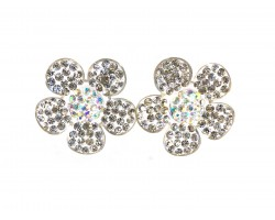 Clear Crystal Daisy Flower Post Earring