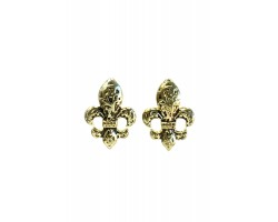 Gold Filigree Fleur De Lis Post Earrings