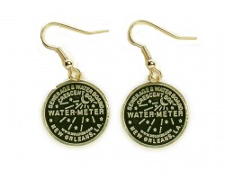 Antique Gold Water Meter Hook Earrings