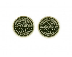 Antique Gold Water Meter Post Earrings