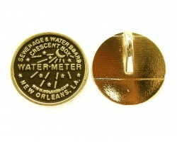 Gold Water Meter Pendants 1dz