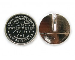 Antique SIlver Water Meter Pendants 1dz