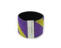 Purple Gold Crystal Magnetic Strap Bracelet