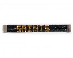 Black Gold SAINTS Crystal Magnetic Strap Bracelet