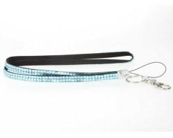 Aqua Crystal Lanyard For ID Tags or Eyeglasses