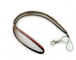 Black Orange Crystal Lanyard For ID Tags or Eyeglasses