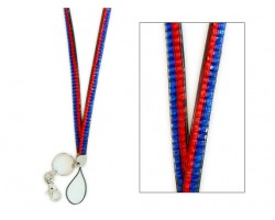 Blue and Orange Crystal Lanyard for ID Tags or Eye Glasses
