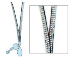 Clear Aurore Boreale Crystal Lanyard For ID Tags or Eye Glasses
