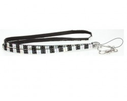 Checker Jet Clear AB Crystal Lanyard for ID Tags or Eye Glasses