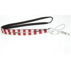 Checker Red Clear Crystal Lanyard for ID Tags or Eye Glasses