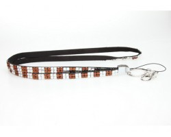 Checker STZ Clear Crystal Lanyard for ID Tags or Eye Glasses