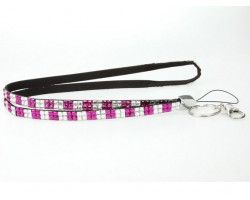 Checker Fuchsia Clear Crystal Lanyard for ID Tags or Eye Glasses