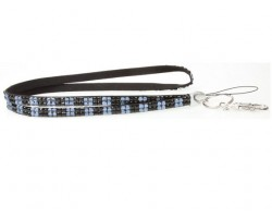 Checker Montana Jet Crystal Lanyard for ID Tags or Eye Glasses