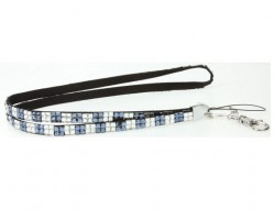 Checker Montana Clear Crystal Lanyard for ID Tags or Eye Glasses