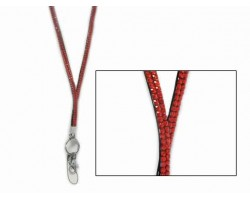 Hyacinth/Orange Crystal Lanyard for ID Tags or Eye Glasses