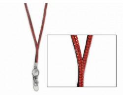Hyacinth/Orange Crystal Lanyard for ID Tags or Eye Glasses