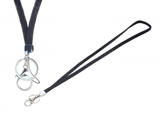 Black Jet Crystal Lanyard For ID Tags or Eye Glasses