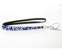 Leopard Aquamarine Crystal Lanyard For ID Tags Or Eyeglasses