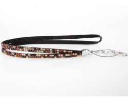Leopard Brown Crystal Lanyard For ID Tags Or Eyeglasses