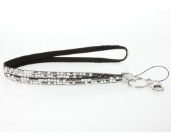 Leopard Clear Hematite Crystal Lanyard For ID Tags Eyeglasses