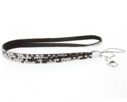 Leopard Hematite Jet Crystal Lanyard For ID Tags Eyeglasses