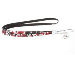 Leopard Light Siam Crystal Lanyard For ID Tags Or Eyeglasses