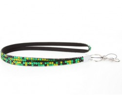 Leopard Olivine Crystal Lanyard For ID Tags Or Eyeglasses