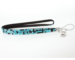 Leopard Turquoise Crystal Lanyard For ID Tags Or Eyeglasses