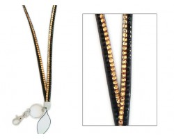 LCT and Jet Crystal Lanyard For ID Tags or Eye Glasses