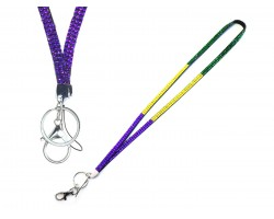 Mardi Gras Crystal Lanyard For ID Tags Or Eyeglasses