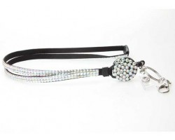 Clear AB Crystal Pull Lanyard Breakaway ID Tags or Eye Glass