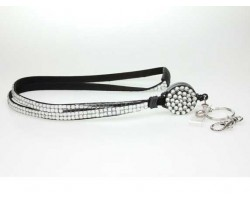 Clear Crystal Pull Lanyard Breakaway ID Tags or Eye Glass
