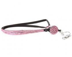 Rose Crystal Pull Lanyard Breakaway ID Tags or Eye Glass