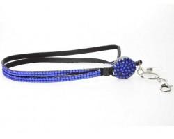 Sapphire Crystal Pull Lanyard Breakaway ID Tags or Eye Glass