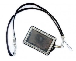 Clear Crystal Lanyard ID Badge Pouch