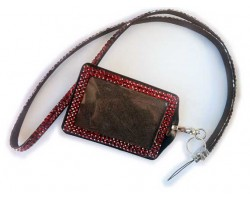 Light Siam Crystal Lanyard ID Badge Pouch