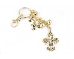 Gold Ridge Fleur De Lis Charms Key Chain