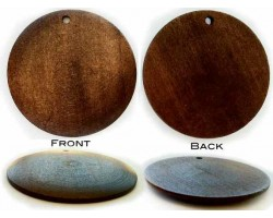 50mm Natural Dark Wood Top Drilled Pendant