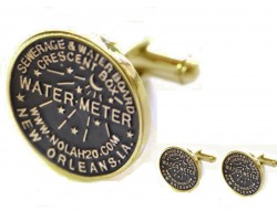 Antique Gold Water Meter Cuff Links