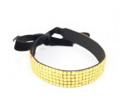 Light Colorado Topaz Crystal 5 Row Headband Tie
