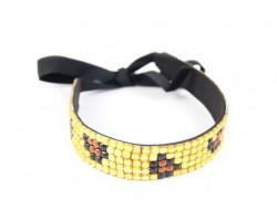 LCT Leopard Crystal 5 Row Headband Tie
