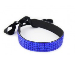 Sapphire Crystal 5 Row Headband Tie