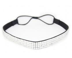 Clear Crystal 5 Row Headband Stretch
