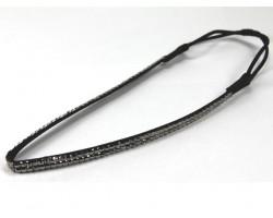 Hematite Crystal 2 Row Headband Stretch