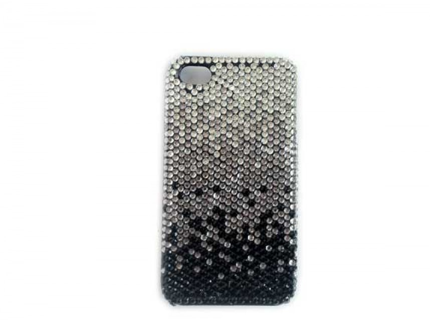 newest e4d20 956b4 Jet Black Diamond Clear Crystal iPhone 4 & 4S Cell Case