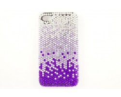 Tanzanite Lavender Clear Crystal iPhone 4 & 4S Cell Case
